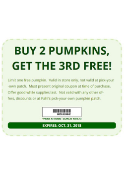 Pahl's Market October Coupon